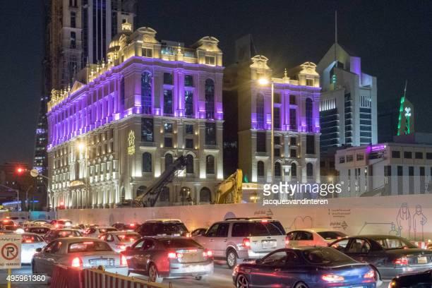 Traffic and hotel in Riyadh, Saudi Arabia