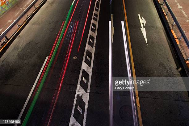 Traffic and light trails