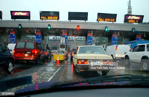 Traffic approaches the toll plaza at the New Jersey entrance to the Lincoln Tunnel Heightened security resulting from Tuesday's terrorist attack on...