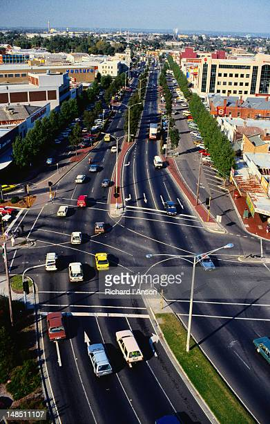 Traffic at an intersection on the Princes Highway, Dandenong - Melbourne