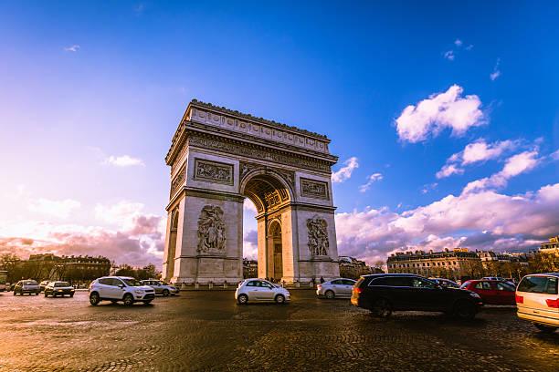 Traffic At Arc De Triomphe Paris Wall Art