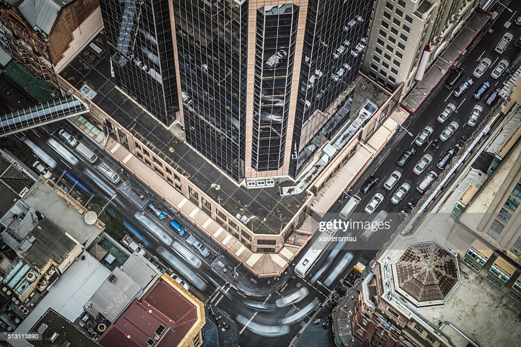 Traffic at downtown Sydney : Stock Photo