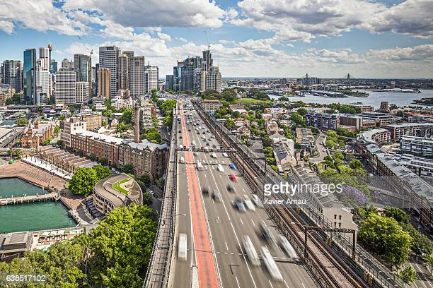 Traffic at Harbour Bridge in Sydney
