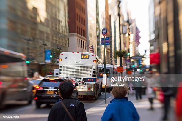 Madison Avenue に交通渋滞