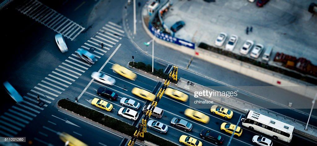 traffic at shanghai china : Stock Photo