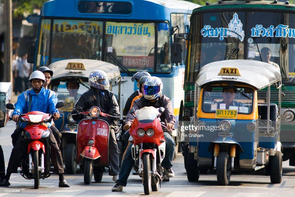 Traffic, Bangkok, Thailand : ニュース写真