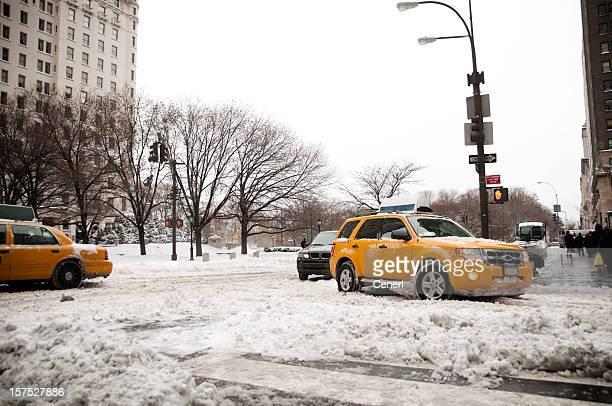 道路状況、ブリザード(Manhattan ,New York ,USA