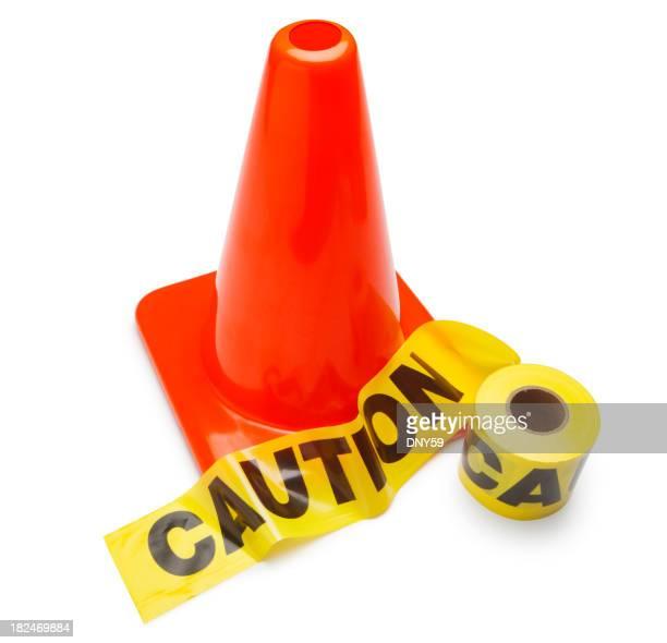 Traffic Cone & Caution Tape