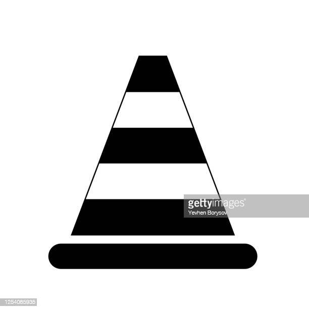 traffic cone icon, traffic cone sign,symbol vector - global awards stock pictures, royalty-free photos & images