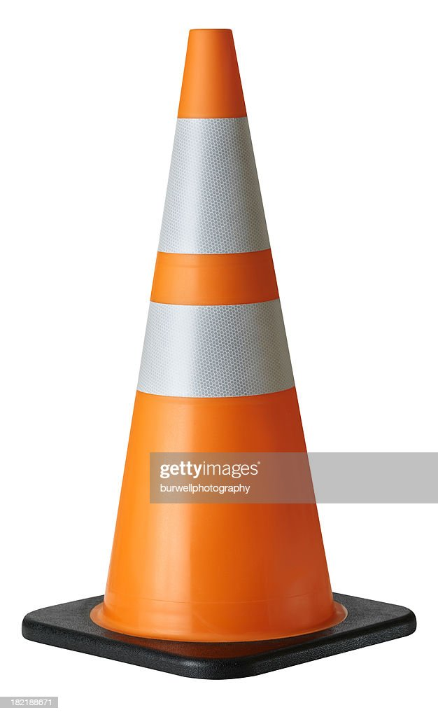 Traffic Cone, isolated on white : Stock Photo