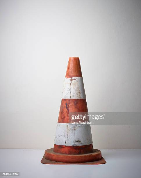 traffic cone on floor - traffic cone stock pictures, royalty-free photos & images