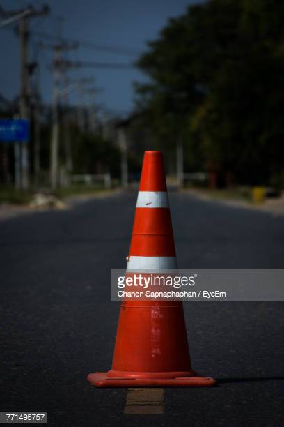 Traffic Cone On Road