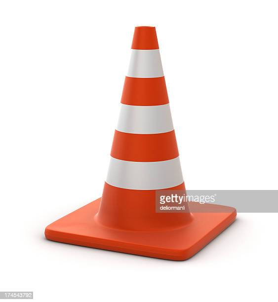 traffic cone - cone shape stock photos and pictures