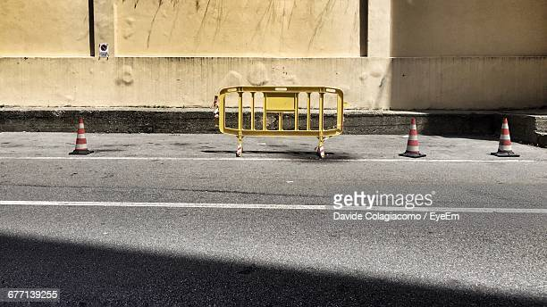 Traffic Cones And Barricades On Street