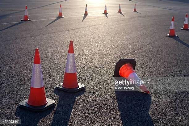 traffic cones - traffic cone stock pictures, royalty-free photos & images