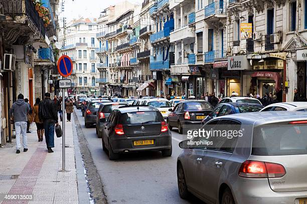 Traffic congested street in Algiers