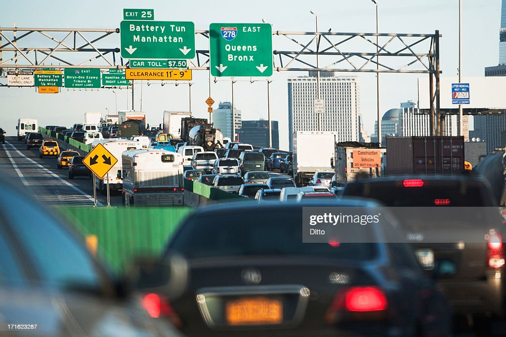 Traffic congestion New York City, USA : Stock Photo