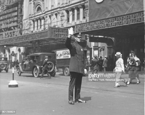 Traffic Cop on Broadway New York New York 1929