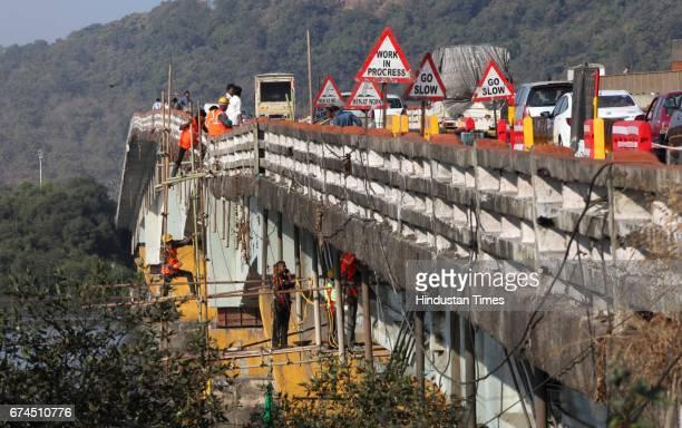 Traffic diversion in Mumbai Ahmadabad National highway no 8 due to damage of Varsova creek bridge in Mumbai