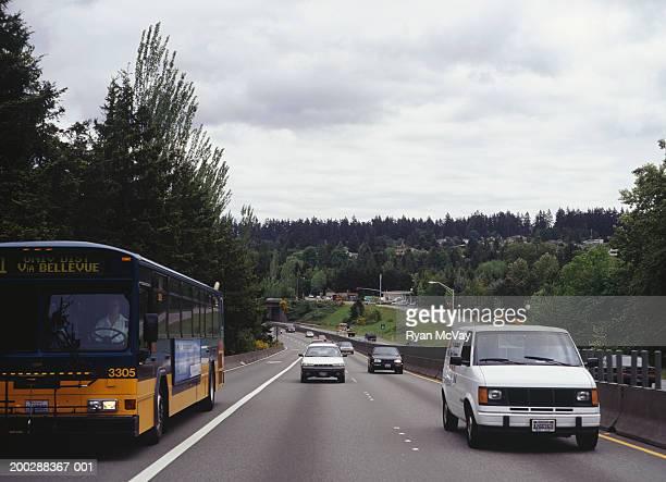 Traffic driving on motorway