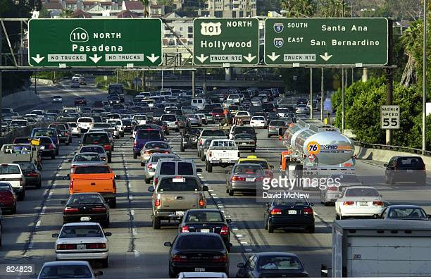 Traffic fills the 110 freeway during rush hour May 7 in downtown Los Angeles CA The Texas Tranportation Institute annual report on congestion has...