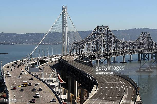 Traffic flows across the new eastern span of the San Francisco Oakland Bay Bridge on the morning after the official opening of the bridge on...