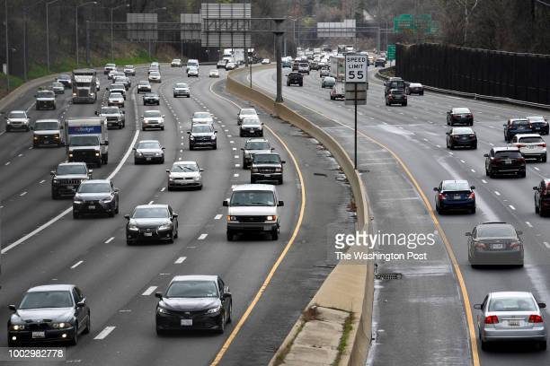 Traffic flows near the interchanges that link I495 and I270 April 16 2018 in Bethesda MD Senior Maryland transportation officials have used an...