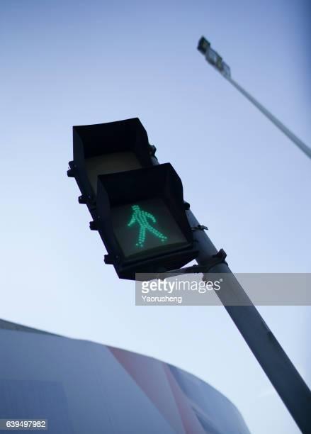 traffic green light for passenger walking