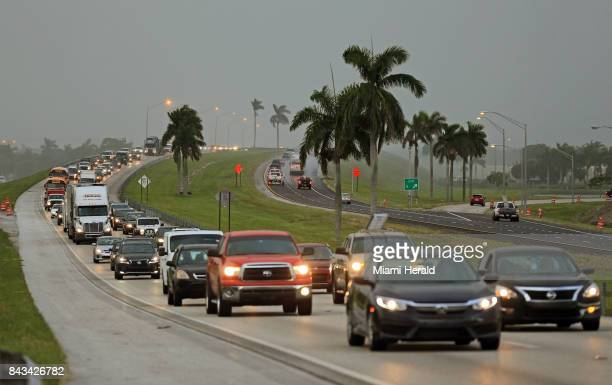 Traffic heads north along the Florida Turnpike near Homestead as tourists in the Florida Keys leave town on Wednesday Sept 6 2017