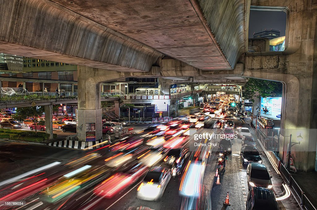 Traffic in Bangkok, Thailand : Stock Photo