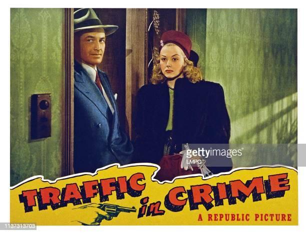 Traffic In Crime US lobbycard from left Kane Richmond Adele Mara 1946