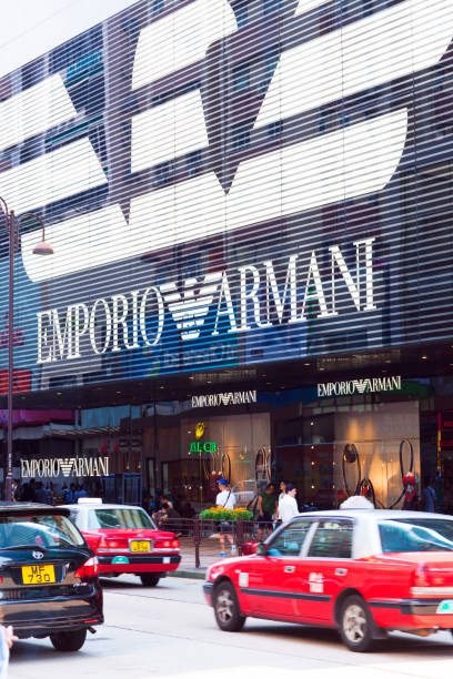 Traffic in front of the Emporio Armani flagship store, Hong Kong
