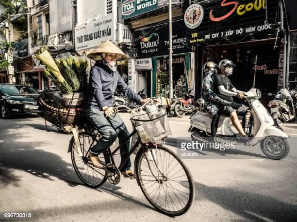 Traffic in Hanoi Vietnam