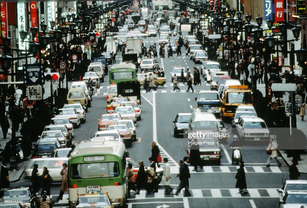 Traffic in Japan... : News Photo