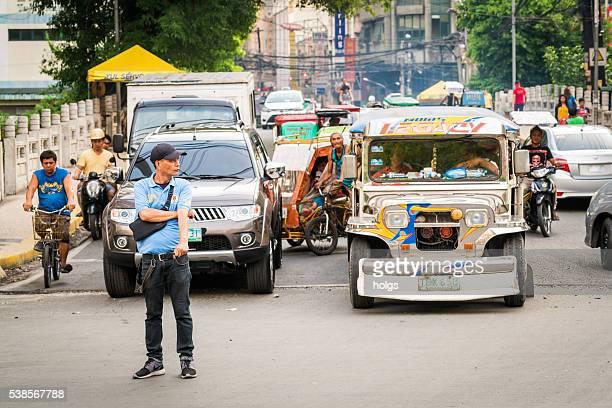 Tráfico en Manila, Filipinas