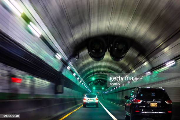 traffic in norfolk–portsmouth bridge–tunnel, virginia. - norfolk virginia stock photos and pictures