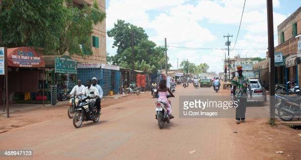 traffic in ouaga, burkina faso - burkina faso stock pictures, royalty-free photos & images