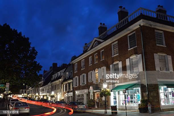 プリンストンの夜の - ニュージャージー州 プリンストン ストックフォトと画像