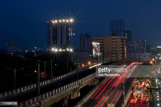 Traffic in Quezon City.