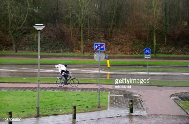 降雨量をトラフィックします。 - オランダ リンブルフ州 ストックフォトと画像