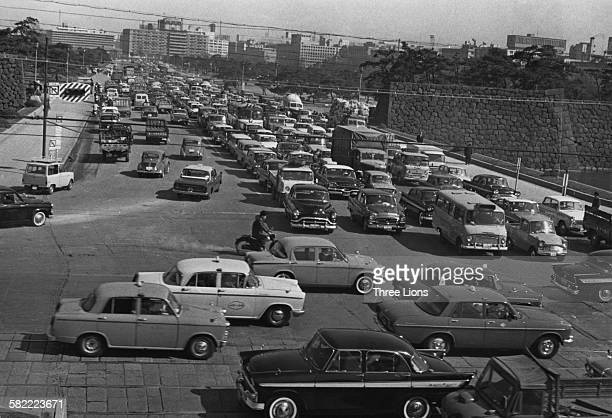 Traffic in Tokyo Japan circa 1955