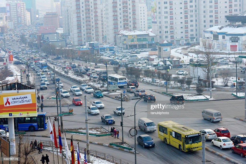 Traffico di Ulan Bator : Foto stock