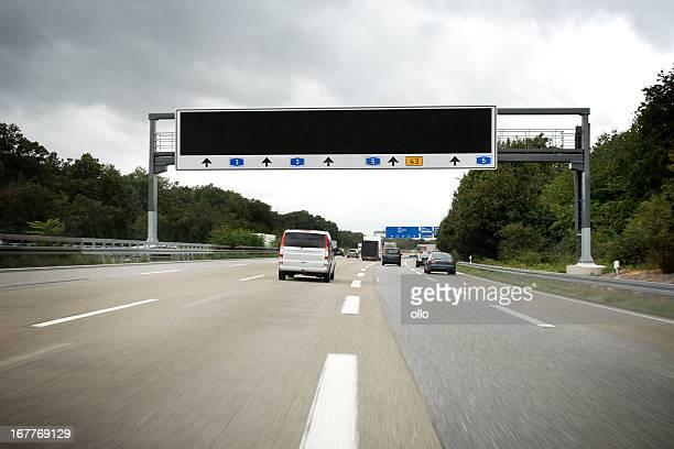 Traffic information system auf Deutsche autobahn A3