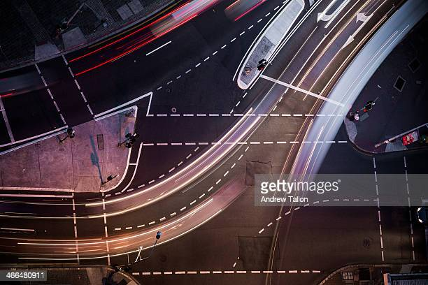 traffic intersection - guidance stock pictures, royalty-free photos & images