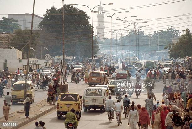 Traffic is seen in the streets of the old city of Kano the oldest city in west Africa and the business and spiritual center of the northern Muslim...