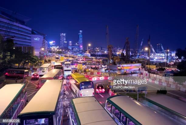 Traffic Jam at Wan Chai in Hong Kong