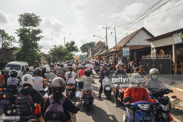 Verkeersopstopping in Bali