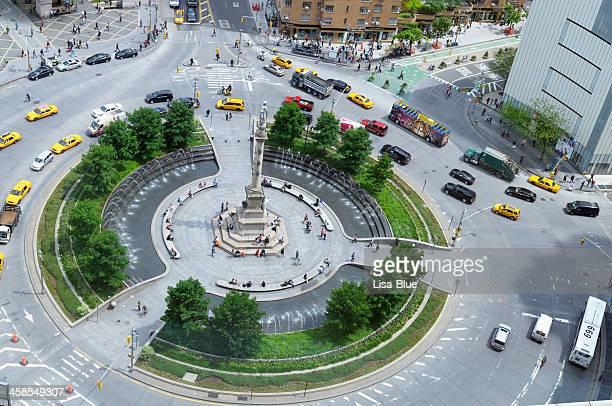 Traffic Jam in Columbus Circle,NYC.