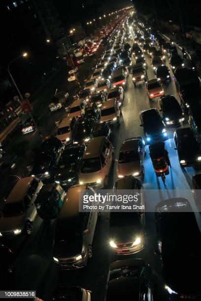 Traffic jam in Dhaka city