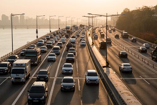Traffic jam in Seoul - gettyimageskorea